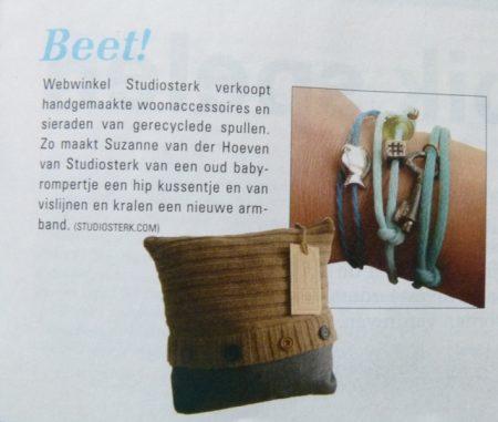 studiosterk recycle cadeautjes in Onze Wereld Mag