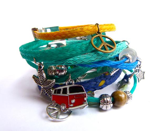 studiosterk recycle armbanden vislijn