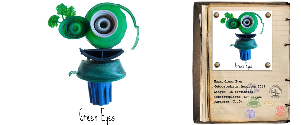 Green Eyes Rover studiosterk jut-kunst strandjutten