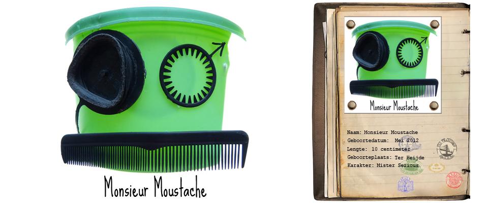 Monsieur Moustache Zand Rover studiosterk jut-kunst strandjutten