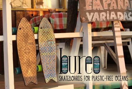 bureo skateboards van visnetten gemaakt